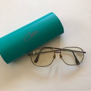 Vintage Cazal Clear Lens Eye Glasses with Case